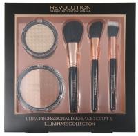 MAKEUP REVOLUTION - ULTRA PROFESSIONAL DUO FACE SCULPT & ILLUMINATE COLLECTION - Zestaw kosmetyków i przyborów do makijażu