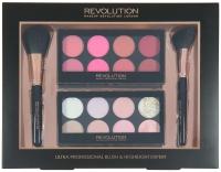 MAKEUP REVOLUTION - ULTRA PROFESSIONAL BLUSH & HIGHLIGHTER - Zestaw kosmetyków i przyborów do makijażu