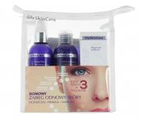 GlySkinCare - GENTLE CLEANSER, GLY MIST, PEEL STEP, HYDROTONE - Domowy zabieg odnowy skóry + kosmetyczka - ZESTAW