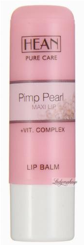 HEAN - LIP BALM - PIMP PEARL REPAIL - Balsam do ust z masłem shea, perłą morską i aktywatorem maxi lips