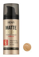 HEAN - MATTE TOUCH PERFECT WEAR MAKE UP - Długotrwały podkład matujący - 4 - OPALONY BEŻ - 4 - OPALONY BEŻ