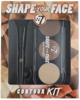W7 - SHAPE YOUR FACE CONTOUR KIT - Zestaw do konturowania twarzy