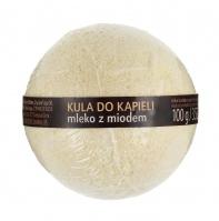 Skin Love - BATH SPA - BATH BOMB milk & honey - Musująca kula do kąpieli z mlekiem i miodem