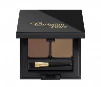 Christian - DUO NATURAL - Set of 2 semi-permanent eyebrow powders - CF504 - IRID BROWN - DARK BROWN - CF504 - IRID BROWN - DARK BROWN