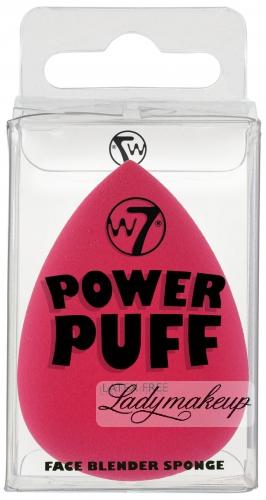 W7 - POWER PUFF - FACE BLENDER SPONGE - Gąbka do aplikacji kosmetyków - RÓŻOWA - (J)