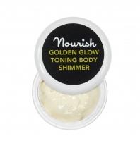Nourish - GOLDEN GLOW TONING BODY SHIMMER - Rozśwetlający balsam do ciała z drobinami - 2 ml