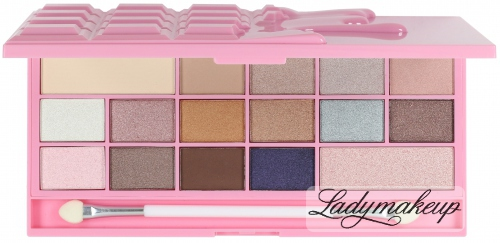 I Heart Revolution - 16 Eyeshadow I HEART CHOCOLATE PINK FIZZ - Paleta 16 cieni do powiek (RÓŻOWA CZEKOLADA)