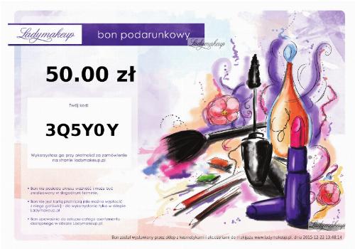 Bon podarunkowy ladymakeup.pl - 50 zł
