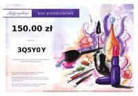 Bon podarunkowy ladymakeup.pl - 150 zł
