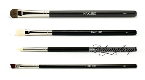 Hakuro - Set of 4 brushes for eye make-up - basic