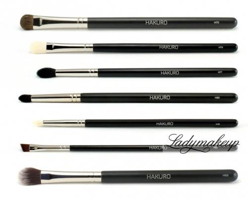 Hakuro - Zestaw 7 pędzli do makijażu oczu - zaawansowany