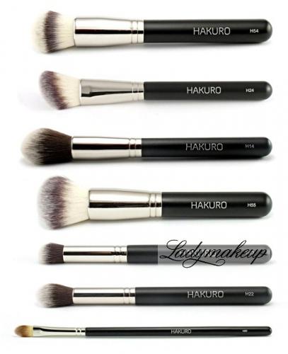 Hakuro - Zestaw 7 pędzli do makijażu twarzy - zaawansowany