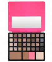 FREEDOM - PRO ARTIST PAD - STUDIO TO GO - Set of 32 eyeshadows + bronzer, highlighter and blush - PINK