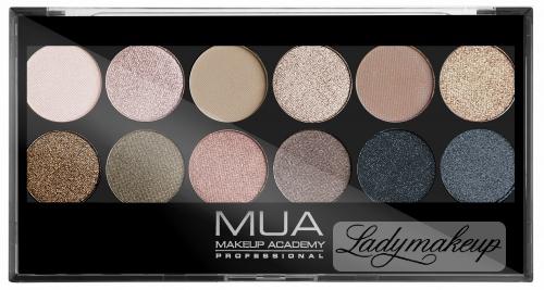 MUA - Eyeshadow Palette - Paleta cieni do powiek - UNDRESSED
