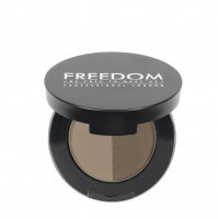 FREEDOM - DUO BROW POWDER - Podwójny cień do brwi - MEDIUM BROWN - MEDIUM BROWN