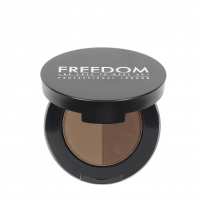 FREEDOM - DUO BROW POWDER - Podwójny cień do brwi - SOFT BROWN - SOFT BROWN