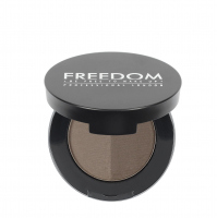 FREEDOM - DUO BROW POWDER - Podwójny cień do brwi - ASH BROWN - ASH BROWN
