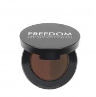 FREEDOM - DUO BROW POWDER - Podwójny cień do brwi - AUBURN - AUBURN