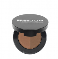 FREEDOM - DUO BROW POWDER - Podwójny cień do brwi - CARAMEL BROWN - CARAMEL BROWN