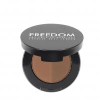 FREEDOM - DUO BROW POWDER - Podwójny cień do brwi - CARAMEL BROWN - CARAMEL BROWN