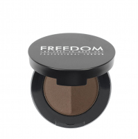 FREEDOM - DUO BROW POWDER - Podwójny cień do brwi - DARK BROWN - DARK BROWN