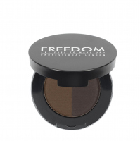 FREEDOM - DUO BROW POWDER - Podwójny cień do brwi - EBONY - EBONY