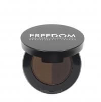 FREEDOM - DUO BROW POWDER - Podwójny cień do brwi - EBONY - EBONY