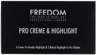 FREEDOM - PRO CREME & HIGHLIGHT - Paleta rozświetlaczy