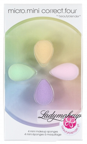 Beautyblender - Micro.mini correct.four - 4 mini make-up sponges