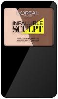 L'Oréal - INFALLIBLE SCULPT CONTOURING PALETTE - Paleta do konturowania twarzy