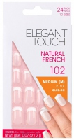 ELEGANT TOUCH - Paznokcie z klejem CLASSIC FRENCH - NATURAL FRENCH 102 - FRENCH MANICURE - 40 20 416