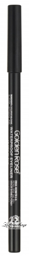 Golden Rose - WATERPROOF EYELINER - LONGWEAR & SOFT - Wodoodporna kredka do oczu - ULTRA BLACK