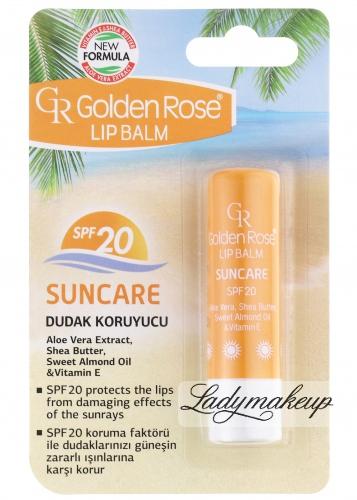 Golden Rose - LIP BALM SUNCARE - Pomadka ochronna z filtrem SPF20 - R-GLB-SUN