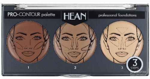 HEAN - PRO-CONTOUR palette - professional foundation - Zestaw kremowych podkładów konturujących