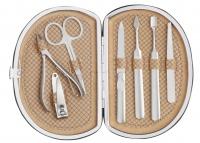 Inter-Vion - Zestaw do manicure dla meżczyzn - BEŻOWY