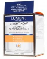 LUMENE - BRIGHT NOW - VITAMIN C - SLEEPING CREAM - Rozświetlająca nocna kuracja odmładzająca