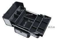 KUFER KOSMETYCZNY - HZ38 - SILVER DIAMOND 3D + BLACK FRAME