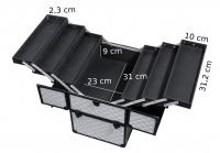 KUFER KOSMETYCZNY - NS06+ A - SILVER DIAMOND 3D + BLACK FRAME