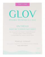 GLOV - HYDRO DEMAQUILLAGE - ON-THE-GO - COLOR EDITION - Rękawica do demakijażu i oczyszczania skóry - PARTY PINK