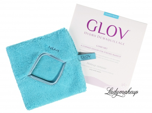 GLOV - HYDRO DEMAQUILLAGE - COMFORT COLOR EDITION - Glove for make-up removal - BOUNCY BLUE