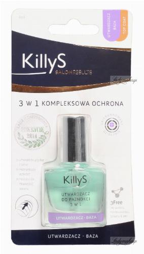 KillyS - 3-IN-1 NAIL HARDENER - Utwardzacz do paznokci 3w1 - 806