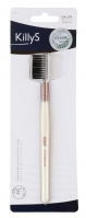 KillyS - EYEBROW BRUSH AND EYELASH COMB - Szczoteczka do brwi i grzebyk do rzęs - 828