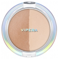 VIPERA - ART OF COLOR - COMPACT POWDER - Puder transparętny + bronzer - DUO TRANSPARENT/ BRONZER - 203