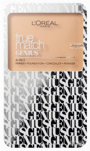 L'Oréal - TRUE MATCH GENIUS 4-IN-1 Primer, Foundation, Concealer, Powder - Baza, podkład, korektor, puder 4w1