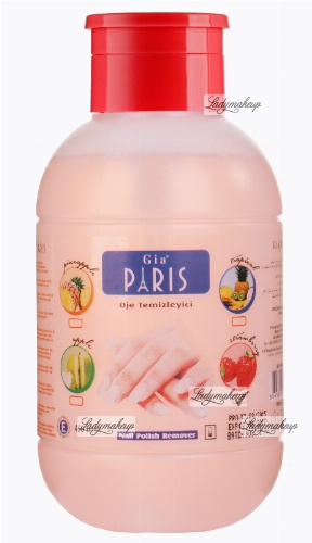 Golden Rose - GIA PARIS - NAIL POLISH REMOVER - Perfumowany zmywacz do paznokci - STRAWBERRY - 450 ml - ZMYW-S452