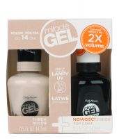 Sally Hansen - MIRACLE GEL + TOP COAT - Żelowy lakier do paznokci + TOP COAT - ZESTAW - 110 - BIRTHDAY SUIT - 110 - BIRTHDAY SUIT