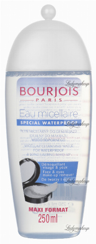 Bourjois - MICELLAR CLEANSING WATER FOR WATERPROOF MAKE-UP - 250 ml