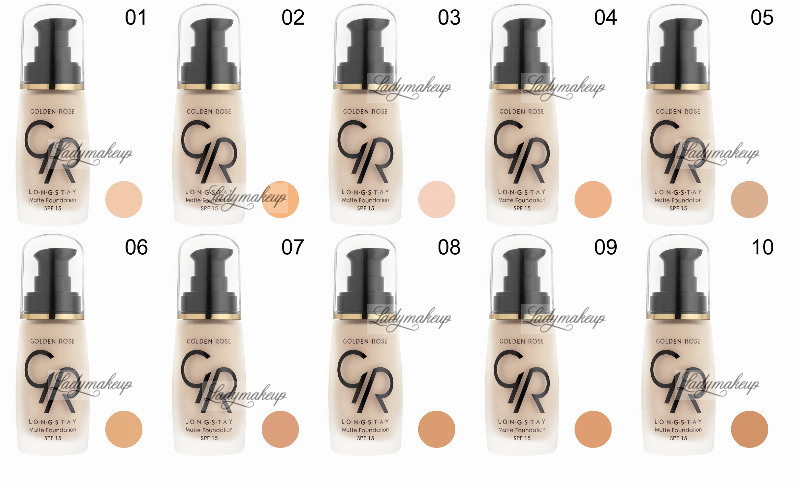 Golden Rose Longstay Matte Foundation Glm