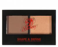 W7 - EBONY - SHAPE & DEFINE - Paleta do konturowania twarzy - DEEP - DEEP