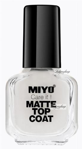 MIYO - Care it! MATTE TOP COAT - Matowy lakier nawierzchniowy